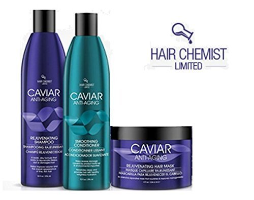 Hair Chemist Caviar COMBO: Rejuvinating Shampoo 10 oz. + Conditioner 10 oz. + Hair Mask 8 oz.