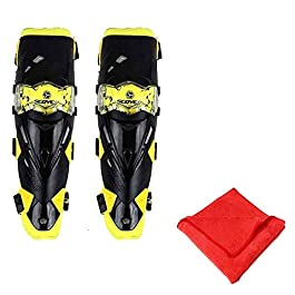 AllExtreme EXSCKPY Breathable Adjustable Knee Pads Motorcycle Racing Riding Knee Guard Unisex Shin Armor Proctector with…