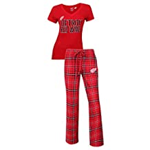 """Detroit Red Wings NHL """"Game Day"""" Women's T-shirt & Flannel Pajama Sleep Set"""