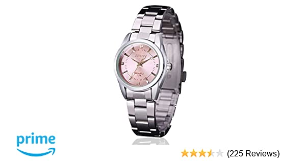 c3fe09a12a1 Amazon.com  Women Lady Dress Analog Quartz Watch with Stainless Steel Band