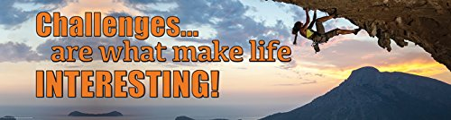 Eureka Challenges, Classroom Banner, are What Make Life Interesting, 12 x 45