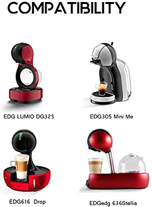 i Cafilas Dolce Gusto Reusable Coffee Capsule for Lumio Refillable Dolce Gusto Capules with 1 Coffee Spoon and 1 Cleaning Brush (Capsule) (Color: Capsule)