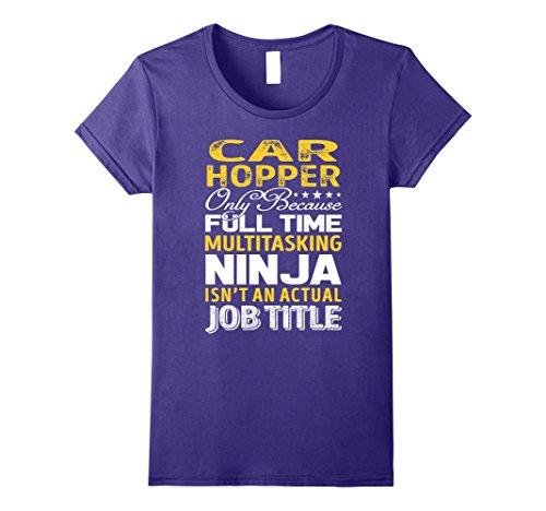 [Womens Car Hopper Is Not An Actual Job Title TShirt XL Purple] (Car Hopper Costume)