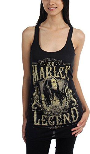 Bob Marley Junior's Legends Racer Back Tank Top Shirt Black XL