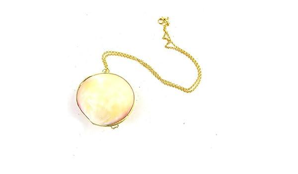 Real collar de concha de mar Locket de la Sirenita Ursula disfraz ...