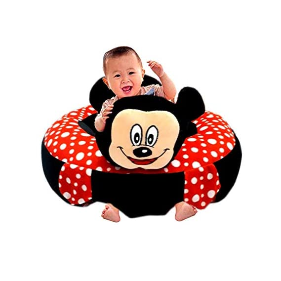 DOMENICO Baby Soft Plush Cushion Cotton Baby Sofa Seat Infant Safety Car Chair Learn to Sit Stool Training Kids Support