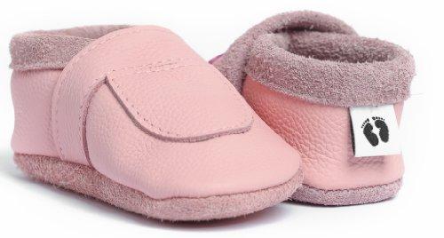 Krabbelschuhe Babypuschen Markenqualität Company® Weiches Komfortleder Foot In Deutschland Handgemachte Rosa Aus Little Hx8q4wRU