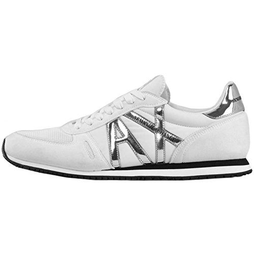 A|X Armani Exchange Men's Retro Running Fashion Sneaker, White, 9 Medium - Armani Buy