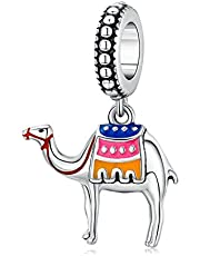 Junyi Jewelry Camel Charm 925 Sterling Silver Animal Charm Lucky Charm Birthday Charm Love Charm for Pandora Charm Bracelet