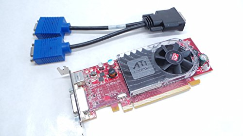 Dell Y103D DMS-59 Ati Radeon HD 3450 Low Profile Video Graphic Card with dual VGA splitter adapter dongle PCI-e x16 256MB 0Y103D SFF 102-B62902(B) 102B6290200