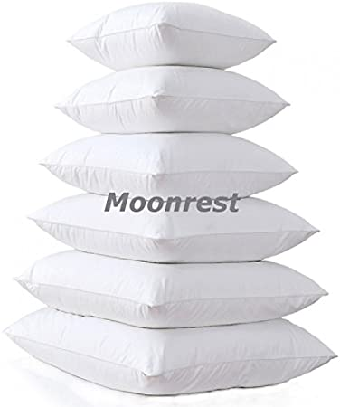 Amazon Com Moonrest Square Pillow Form Insert Hypoallergenic Sham Stuffer 100 Polyester Microfiber Fill Lined With Woven Cotton Blend Cover For Decorative Pillow Couch Sofa Bed Cushions 17 X 17 Home Kitchen