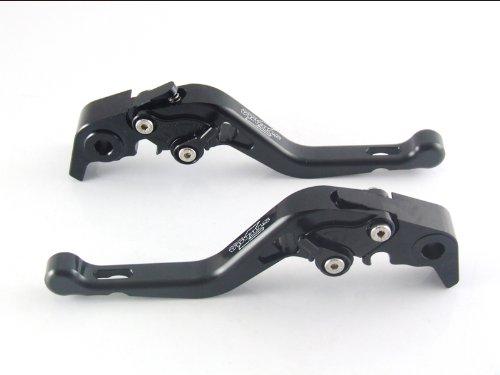 Strada 7 Racing Short Adjustable Levers Pair Black For Yamaha YZF R1