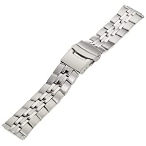 Timex Men's Q7B863 Stainless Steel Non-Expansion 16-20mm Replacement Watchband