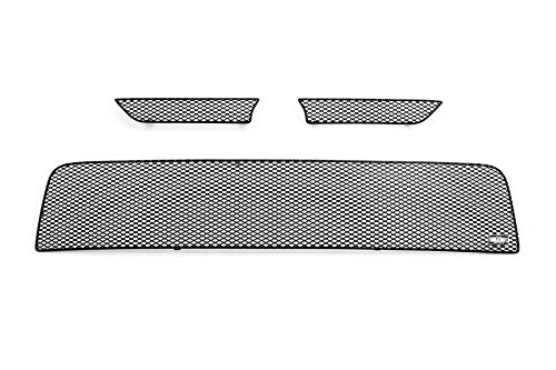MX Series Black Upper 2pc & Lower 1pc Mesh Grill Grille Insert for Scion TC (Scion Tc Mesh Grill)