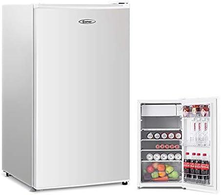 costway nevera compuesto congelador frigorífico mini-réfrigérateur ...