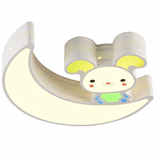 Pers/önlichkeit LZYBABY Kinder Deckenleuchte f/ür den Cartoon Umweltschutz Acryl Moon Rabbit Lamp