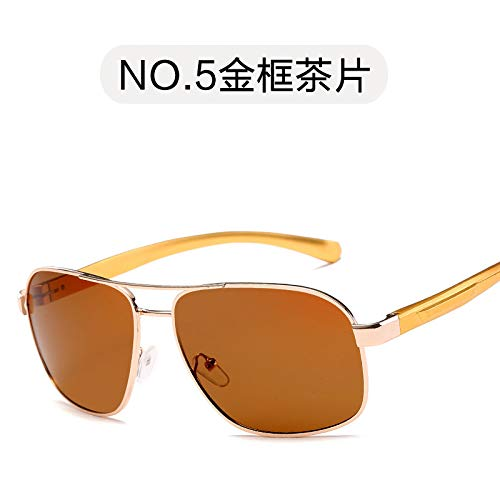 Sol tea de Burenqiq de clásico de Plata polarizadas Exterior Marco para Gafas Personalizado Hombre conducción Pesca de polarizado Gafas double Hombre Sol Espejo frame Lleno de de Espejo Gris Golden qqCO7