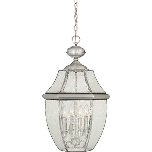 (Quoizel NY1916P  Newbury 4-Light Outdoor Lantern, Pewter)
