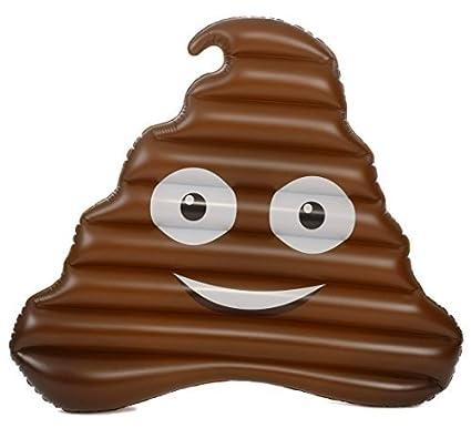 Émoticône / Emoji Matelas gonflable - Emoji Poop / Caca 152 cm