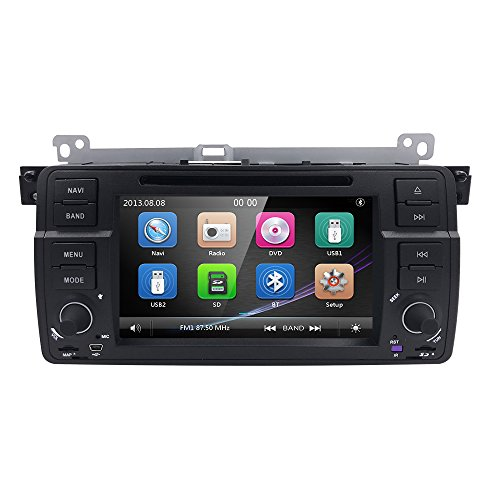 hizpo 7 inch car dvd stereo for bmw 3 series e46 m3 3er in. Black Bedroom Furniture Sets. Home Design Ideas