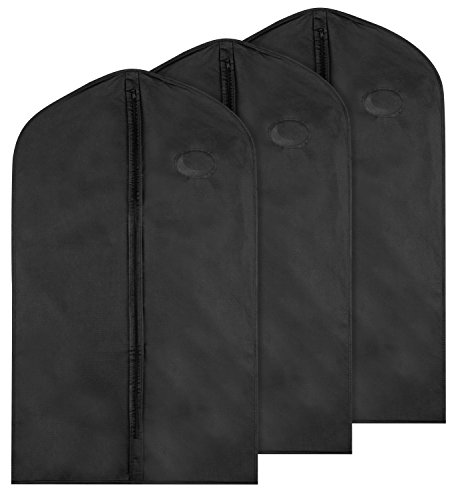 Garment Bag for Storage; Pack of 3 Bags; 40 Inches Tall; Keep Your Suits and Other Garments Safe (Tall Garment Bag compare prices)