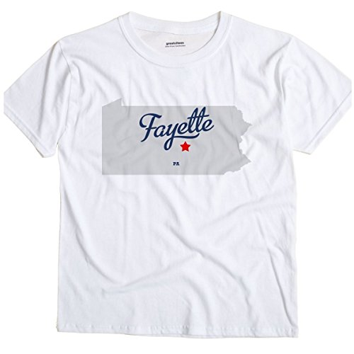 GreatCitees Fayette Pennsylvania PA, Juniata County MAP Unisex Souvenir T Shirt