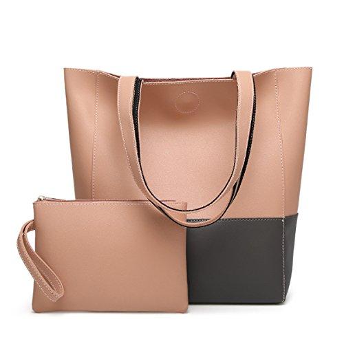 Oangel - Bolsa Mujer grey+pink