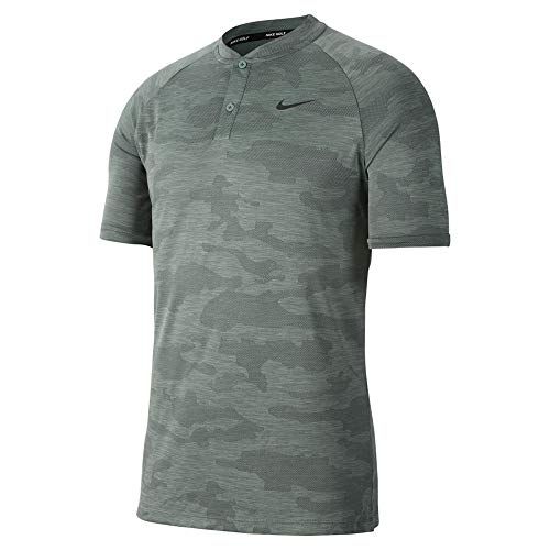 Nike New TW Vapor Zonal Cooling CAMO Blade Golf Polo Clay Green/Black Small