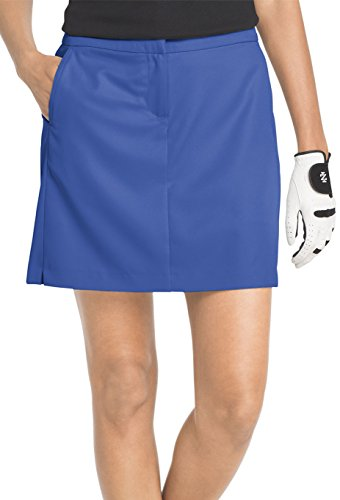 IZOD Golf Womens Basic Solid Woven Pocket Skort 14 Blue (Womens Basic Skort)