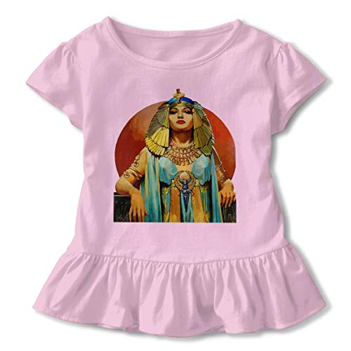 Leopoldson Girls' Toddler,Toddler Girls,Girls,Girls' Egyptian Goddess Short-Sleeve Tunic Tee T Shirt Top Pink