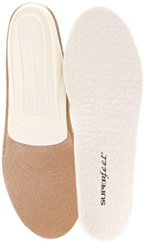 Superfeet Unisex Merino White White Insole C (Men's 5.5-7, Women's 6.5-8) (Superfeet Blue Premium)