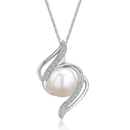 pearl pendant necklace_ for ladies women jewellery_ necklace pendant 925 silver jewellery_necklaces for womens