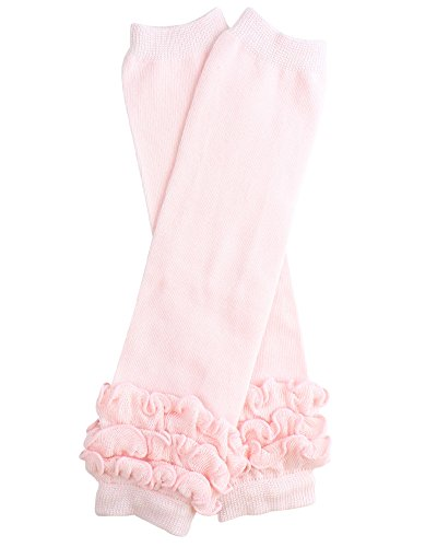 juDanzy ruffled leg warmers for baby or toddler girls (One Size (12 pounds to 10 years), Heavenly Pink)