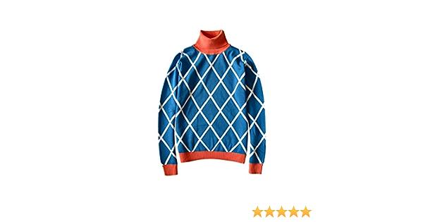 Nsoking Bizarre Adventure Guido Mista Cosplay Costume Golden Wind Highneck Knitted Coat Sweater