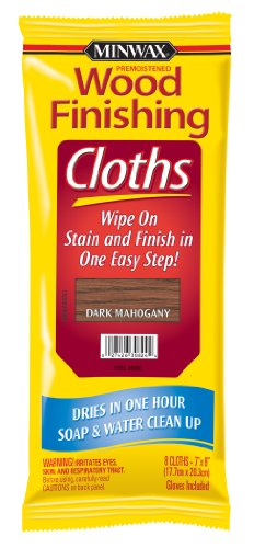 (Minwax 308240000 Wood Finishing Clothes, Dark Mahogany)