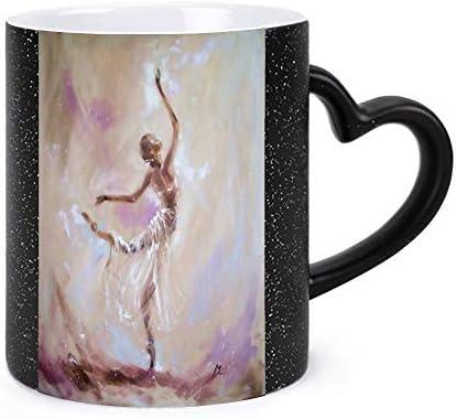 セラミック マグカップ バレエダンスガール 色変 星空 マグカップ コーヒーカップ 陶器 お誕生日 バレンタインデー 贈り物 に 男女兼用 家 事務所 ギフトボックス付き