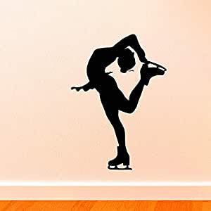 Slim Ice Skatiing Artist Tatuajes de pared Chica Patinaje sobre ...