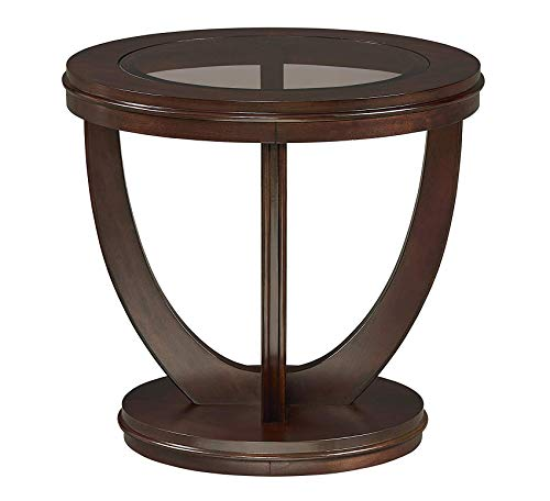 Wood & Style Furniture La Jolla End Table, Brown Home Office Commerial Heavy Duty Strong Décor