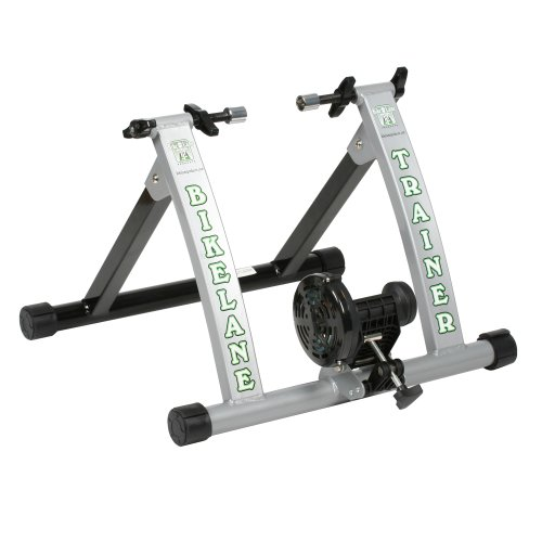 Bike Lane Trainer Bicycle Indoor Trainer Exercise Machine Ride All Year Around With 850 Gram Machined Steel Flywheel for the Most Natural Pedal Feel by Bike Lane