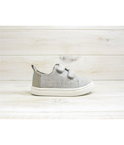 TOMS Kids Unisex Lenny (Infant/Toddler/Little Kid) Drizzle Grey Slub Chambray 8 Toddler M (Discount Code Tom)