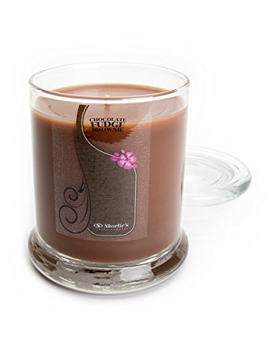Chocolate Fudge Brownie Candle - Medium Brown 10 Oz. Highly Scented Jar Candle - Made with Natural Oils - Bakery & Food Collection ()