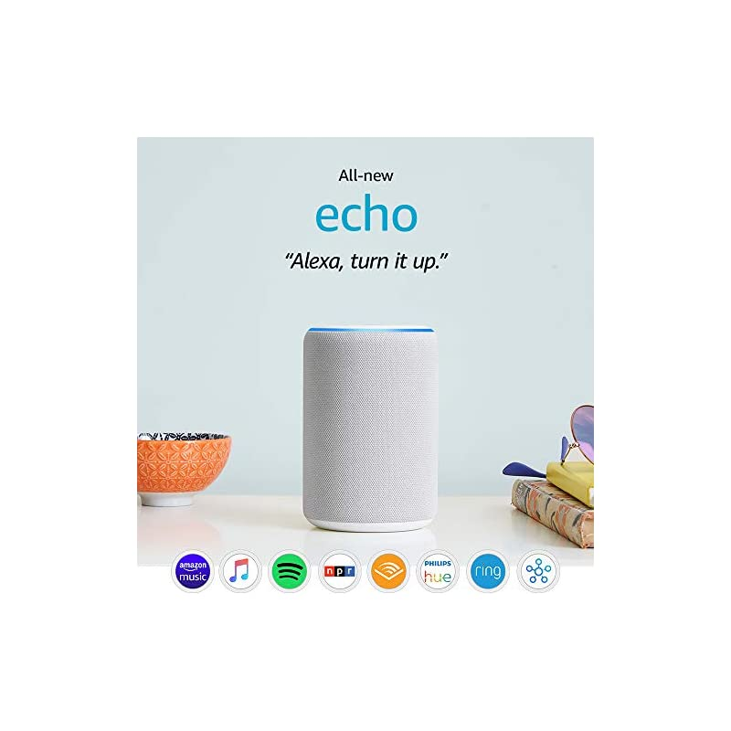 All-new Echo (3rd Gen) - Smart speaker with Alexa - Sandstone