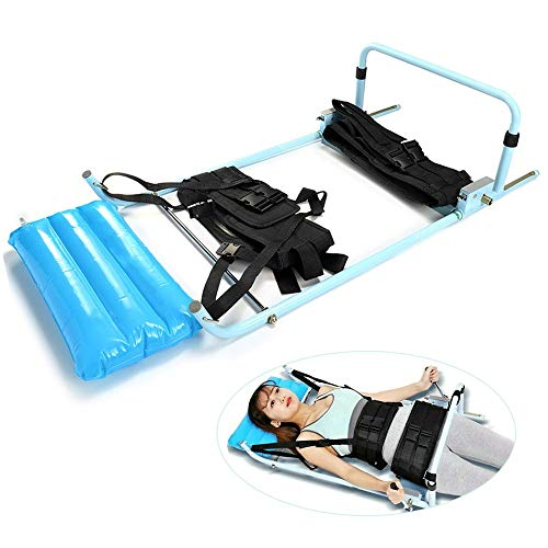 Lumbar Traction Bed, Home Use Cervical Spine Extension Stretcher Device for Physical Therapy Shoulder Acid, Hands & Feet Numbness, Relieving Neck & Lumbar Spondylosis