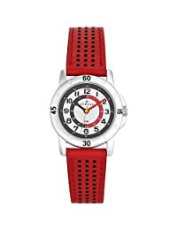 Certus Paris Kids' 647493 Red Calfskin Leather Band Quartz Watch