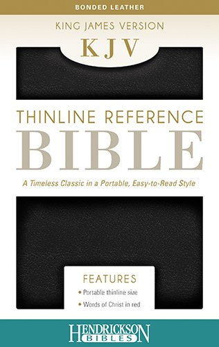 Read Online Holy Bible: King James Version, Black, Bonded Leather, Thinline Reference, End of Verse Reference Edition PDF