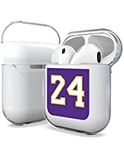 Customerfirst Airpods Case 1&2nd Gen, Hard PC Protective Transparent Clear Cover Case [LED Visible] Compatible with Apple AirPods Wireless Earphone Charging Case (Purple 24)