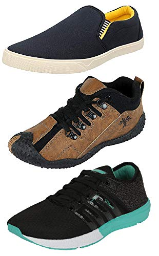 Chevit Men's Combo Pack of 3 Running Shoes (Sneakers and Loafers) Price & Reviews
