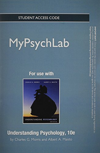 NEW MyPsychLab without Pearson eText -- Standalone Access Card -- for Understanding Psychology (10th Edition)