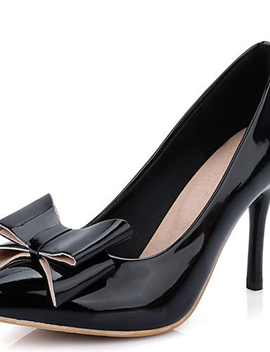 GGX/ Damen-High Heels-Party & Festivität / Kleid / Lässig-PU-Stöckelabsatz-Absätze / Spitzschuh-Schwarz / Rot / Weiß / Beige black-us8.5 / eu39 / uk6.5 / cn40