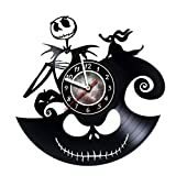 Vinyl Record Wall Clock specially for Fans of Horrors - Get unique kids, living room wall decor - Gift ideas for teens, friends, boyfriend, girlfriend – Dark Nightmares Unique Art Design